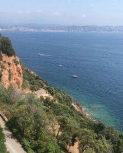 Foto del mare dalla Corniche d'Or