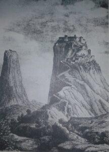 disegno di san leo ai tempi di Dante