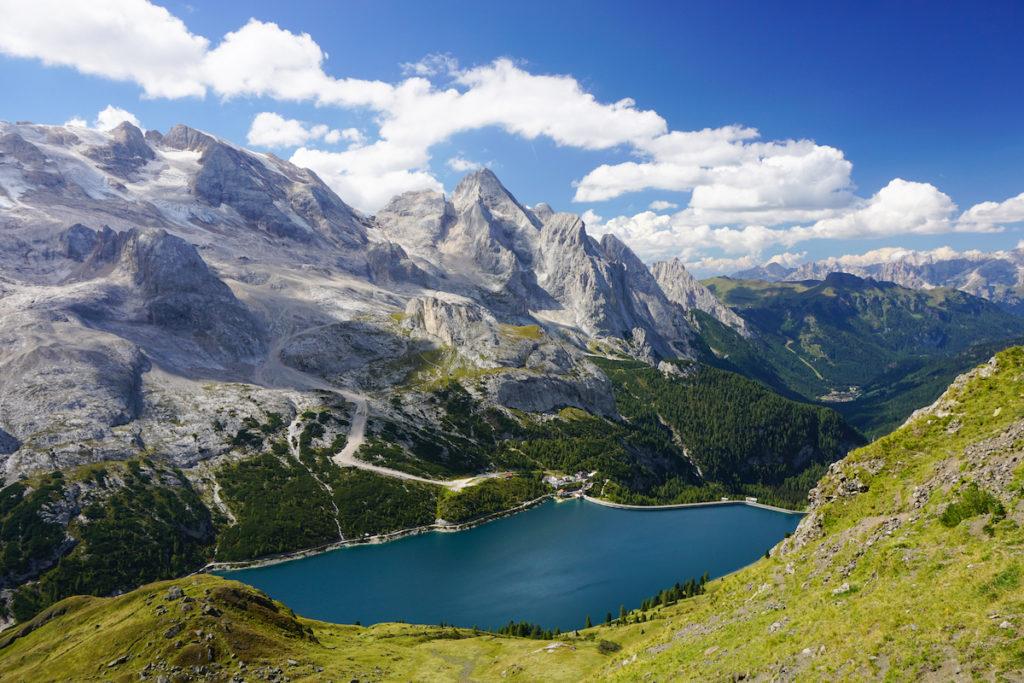 Marmolada in estate per trekking e vie ferrate