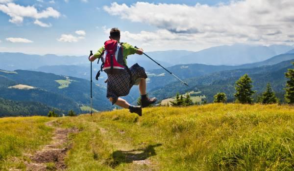 Escursionista in Valmarecchia