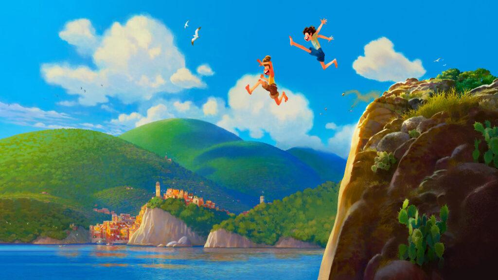 I protagonisti del film di animazione  Luca ambientato nelle Cinque Terre
