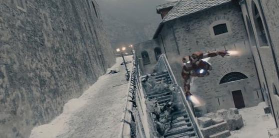 Iron Man entra nella base segreta dell'Hydra, che si trova a Forte di Bard.