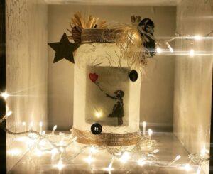 Lanterna bianca Banksy bambina con palloncino
