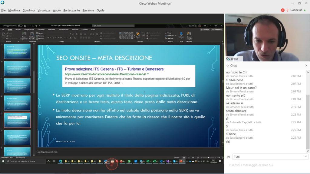 Cisco Webex Meeting: formazione a distanza